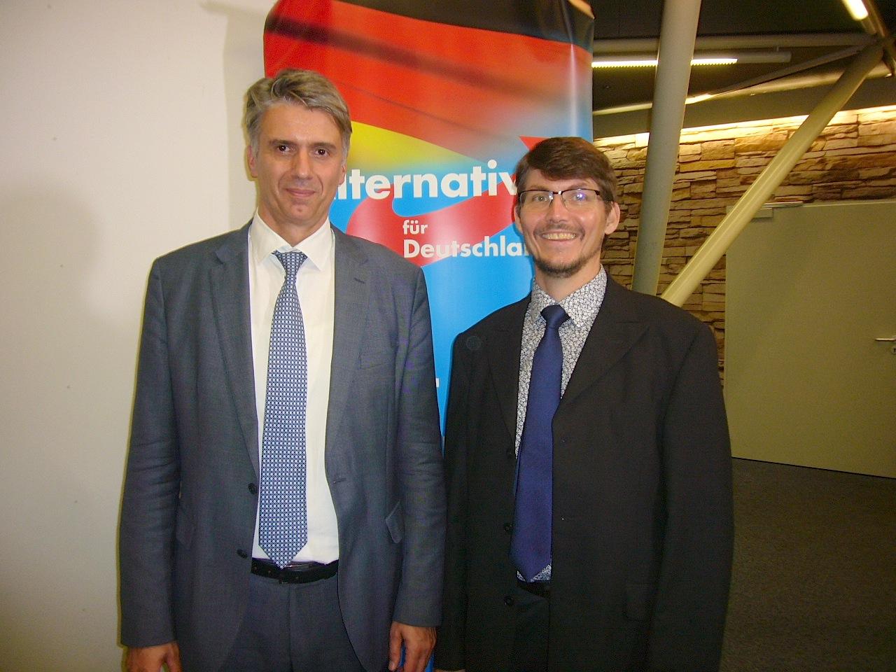 Dr. Marc Jongen und Dr. Paul Schmidt im Sommer 2018 in Karlsruhe-Neureut