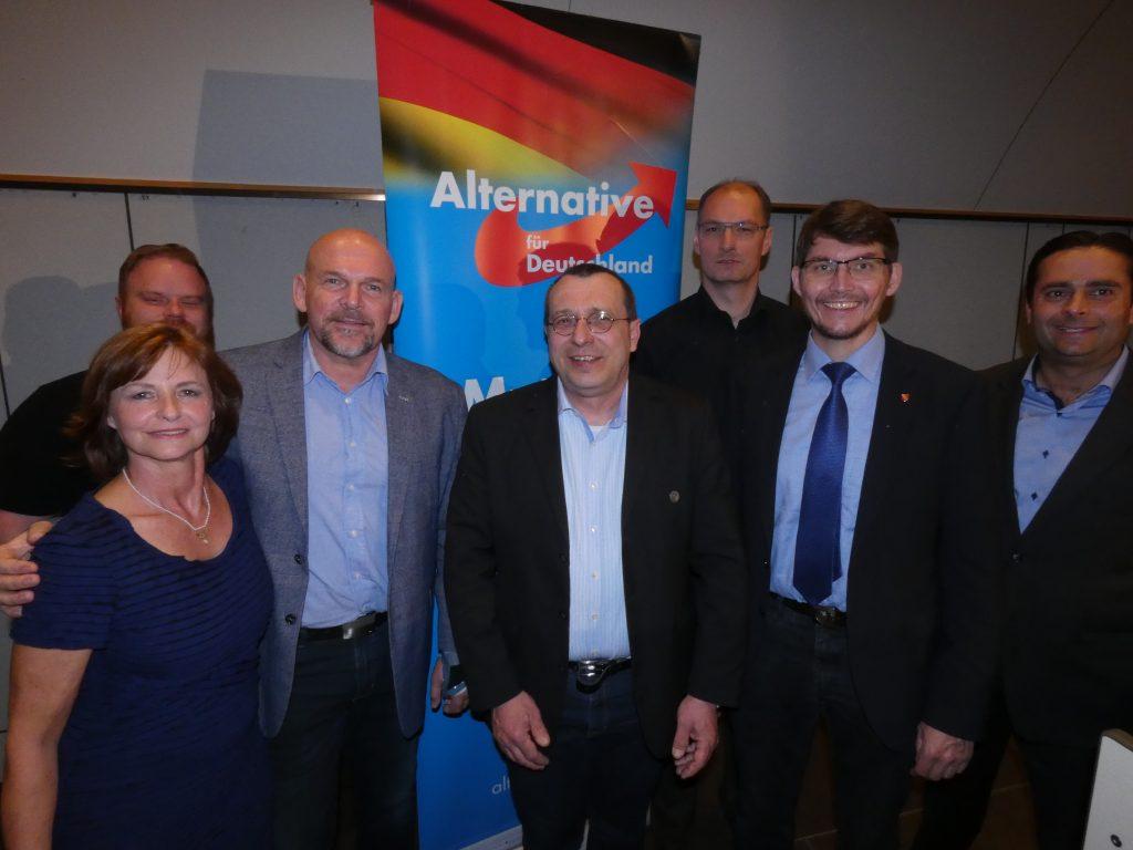 Kandidaten des AfD-Kreisverbandes Karlsruhe für die Kommunalwahl, im Gemeindezentrum in Stupferich