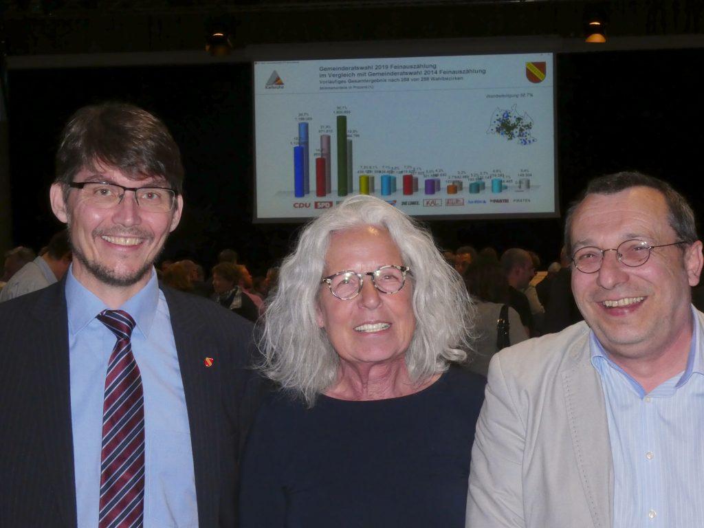 Die drei Stadträte ab Juli 2019 (v.l.n.r): Paul Schmidt, Ellen Fenrich und Oliver Schnell